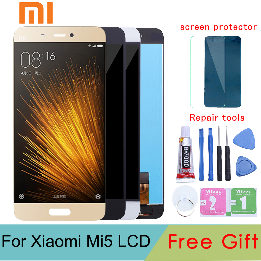 Für Xiaomi Mi5 LCD Screen Display Qualität AAA LCD Display + Touch Screen für Xiaomi Mi5 M5/Mi5 Pro /Mi5 Prime 5,15 ''Schwarz