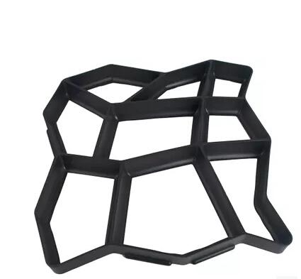 Ru grátis DIY plástico caminho fabricante de moldes manualmente de pavimentação tijolo / cimento moldes o Stone Road ferramentas auxiliares molde Pavement H-008