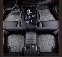 Automoción tapetes alfombras de cuero set almohadilla del pie para Cadillac DeVille Escalade SLS SRX CTS CT6 ATS-L/XTS interior accesorios caliente