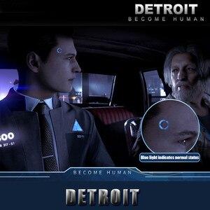 Image 5 - Detroit: Become Human Cosplay Connor RK800 Sans Fil Temple LUMIÈRE LED Kara Létat Scintillation Lampe Anneau Cercle Tête LED ACCESSOIRES