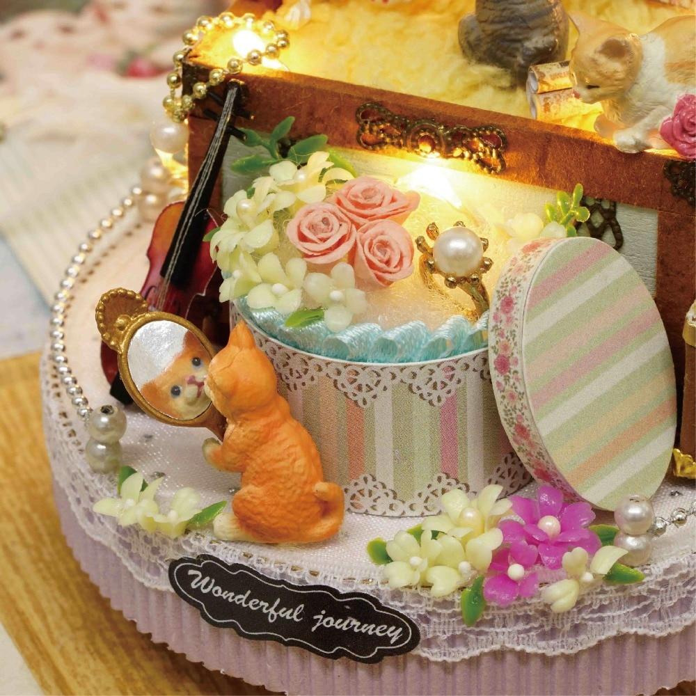 DIY Miniature Dollhouse CANDY CAT CADEAU BOÎTE avec Mouvement - Poupées et accessoires - Photo 3