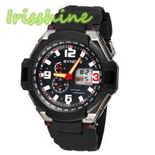 Irissshine #0106 homem relógios 5 cores Multi Função Dupla À Prova D' Água Digital De Quartzo LEVOU Relógio Militar Esportes