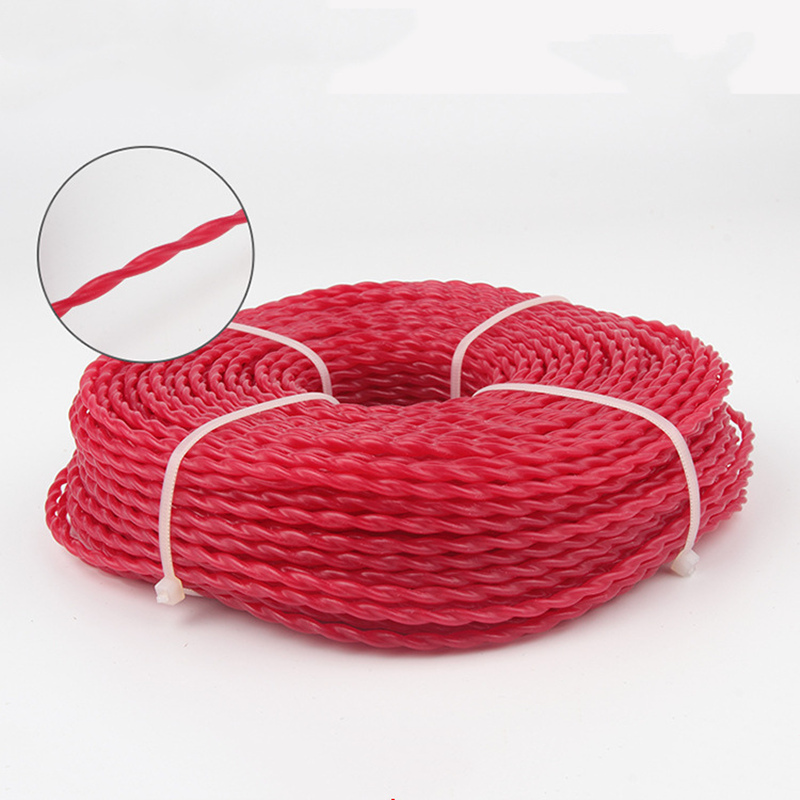 3.0MM 450G Super Quality Steel Nylon Grass Trimmer Line Twist Pattern Serrated String Trimmer Line For Weed Cutter Brush Cutter