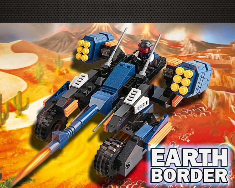 GUDI Earth Border Star War Educational Building Blocks Toys For Children Kids Gifts Robot Compatible Legoe