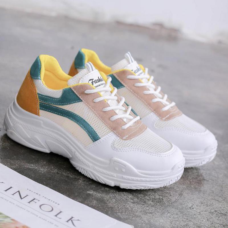 Mesh Air Casual Plates Blanc Sneakers Respirant Hauteur Unisexe Marche Pour Chaussures rouge Léger Vert Creepers Croissante Femmes 5fHTwAxH