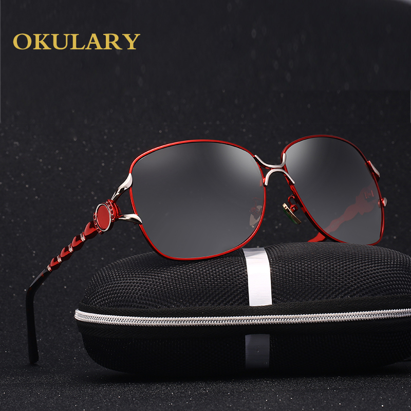 2018 Fashion Women Sunglasses 4 Color Metal Polarized UV400 Sunglasses With Box Free Shipping