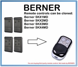 Berner SKX1MD  SKX2MD  SKX3MD  SKX4MD zamiennik pilota zdalnego sterowania 4-kanał 433 MHz. (Tylko dla 433.92 mhz naprawiono kod)