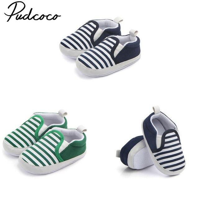 Pudcoco Newborn Baby Soft Sole Crib Shoes Infant Boy Girl Toddler Sneaker Anti-Slip 0-12