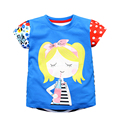 Brand Baby Girl T Shirt Baby Clothes Fun Short Sleeve Kids Tops Tee New Summer Cotton Children's T-shirts For Girls 1-6 Yrs