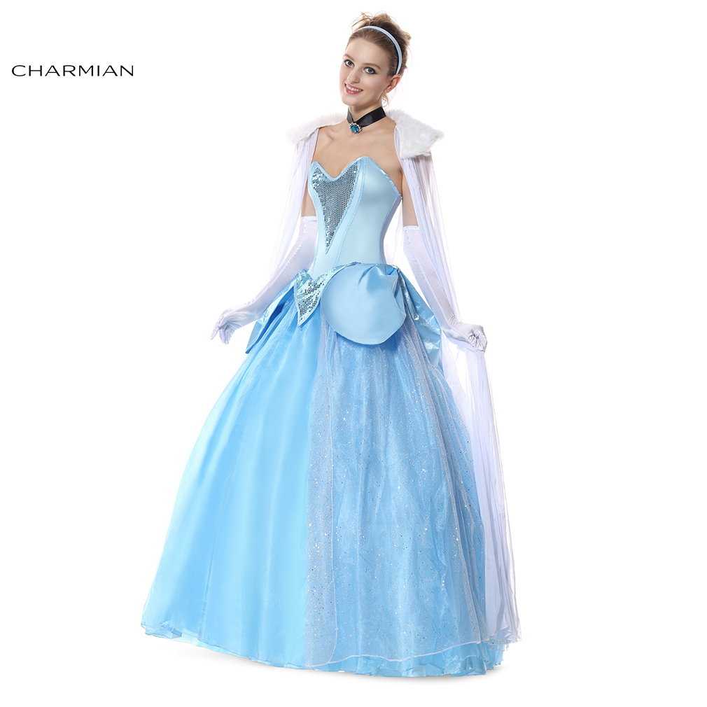 Charmian Princess Ball Gown Halloween Costume for Women Adult ...