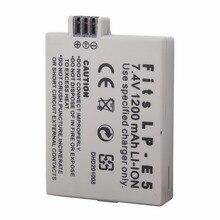 LP-E5 LPE5 LP E5 1200 mah 7.4 v Recarregável Bateria Para Câmera Canon EOS 450D 500D 1000D X3 Beijo Beijo F Rebel Xsi