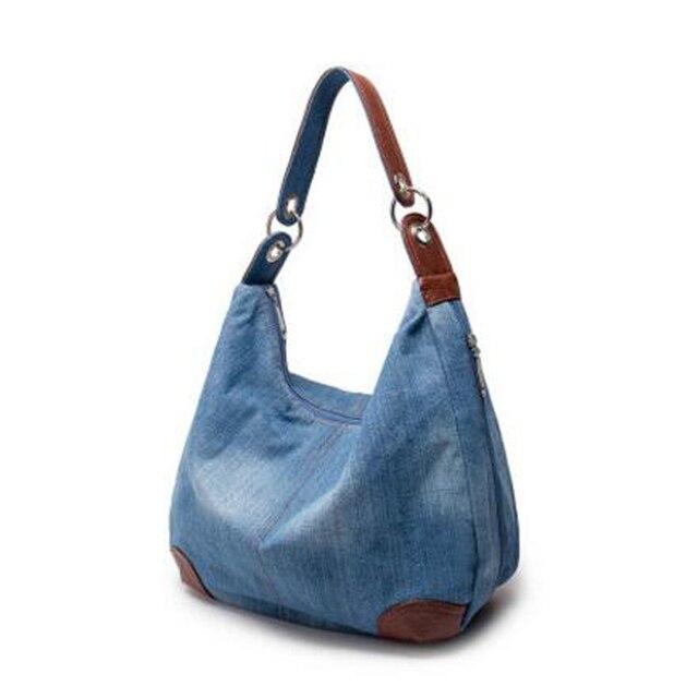 Повседневная сумка женщин джинсовой ткани женщин сумки мода сумка креста тела shoudler сумки bolosa сумки тотализатор