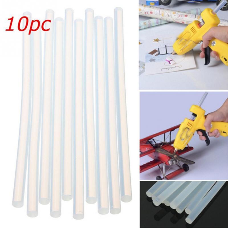 DIY 7mm /11mm X 200mm 10pcs Hot Melt Glue Sticks High Viscosity Craft Album Repair Tools For Alloy Accessories