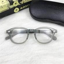 Eyeglasses Men Spectacle Frame Johnny Depp Glasses Transparent Lens Brand designer Computer Goggles male Round Vintage Style