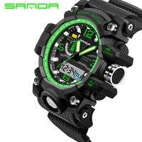 2017 nueva SANDA hombres reloj deportivo impermeable reloj militar deportes de simulación de lujo moda hombre reloj Relogio masculino