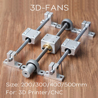Guide Rail Kits T8 Lead Screw 400mm Optical Axis 400mm KP08 Bearing Bracket Screw Nut Housing