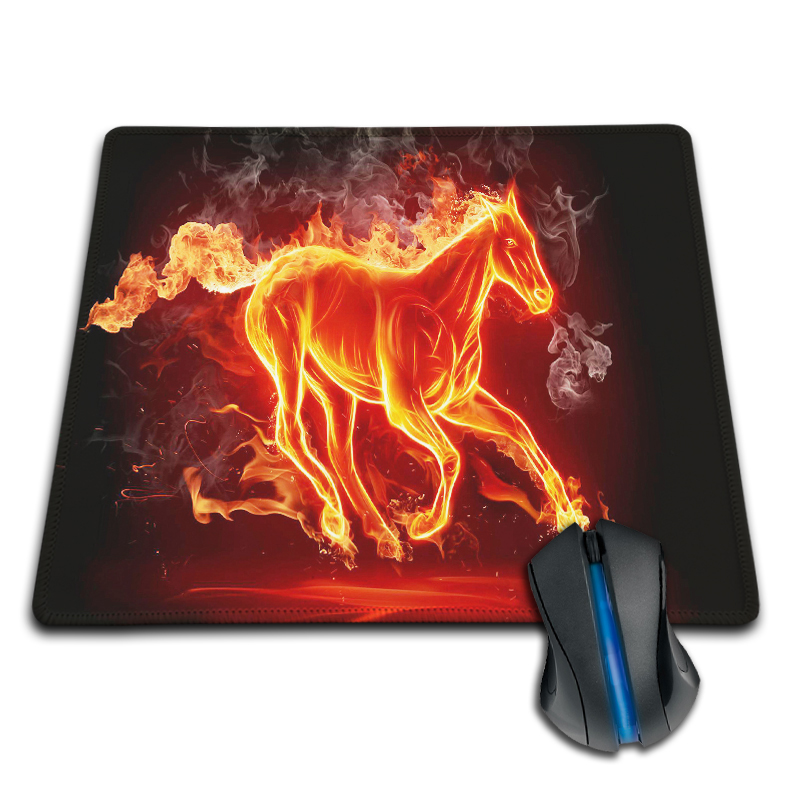 The Fire Flame Burning Strong Horse New Arrival Customized Mouse Pad Fashion Computer Notebook Durable Non-slip Gaming Mice Mat