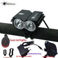 Puissant lampe à LED X2 XM-L T6 LED Rechargeable étanche 5000 lumen lumière noir vélo VTT lumière + feu arrière + chargeur B
