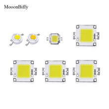 MOONBIFFY Weiß/Warmweiß 10 Watt 20 Watt 30 Watt 50 Watt 100 Watt LED-licht Chip DC 12 V 36 V COB Integrierte led-lampe dioden(China)