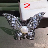 Factory exquisite corsage, new people Pure natural pearl brooches Pearl full glare flawless