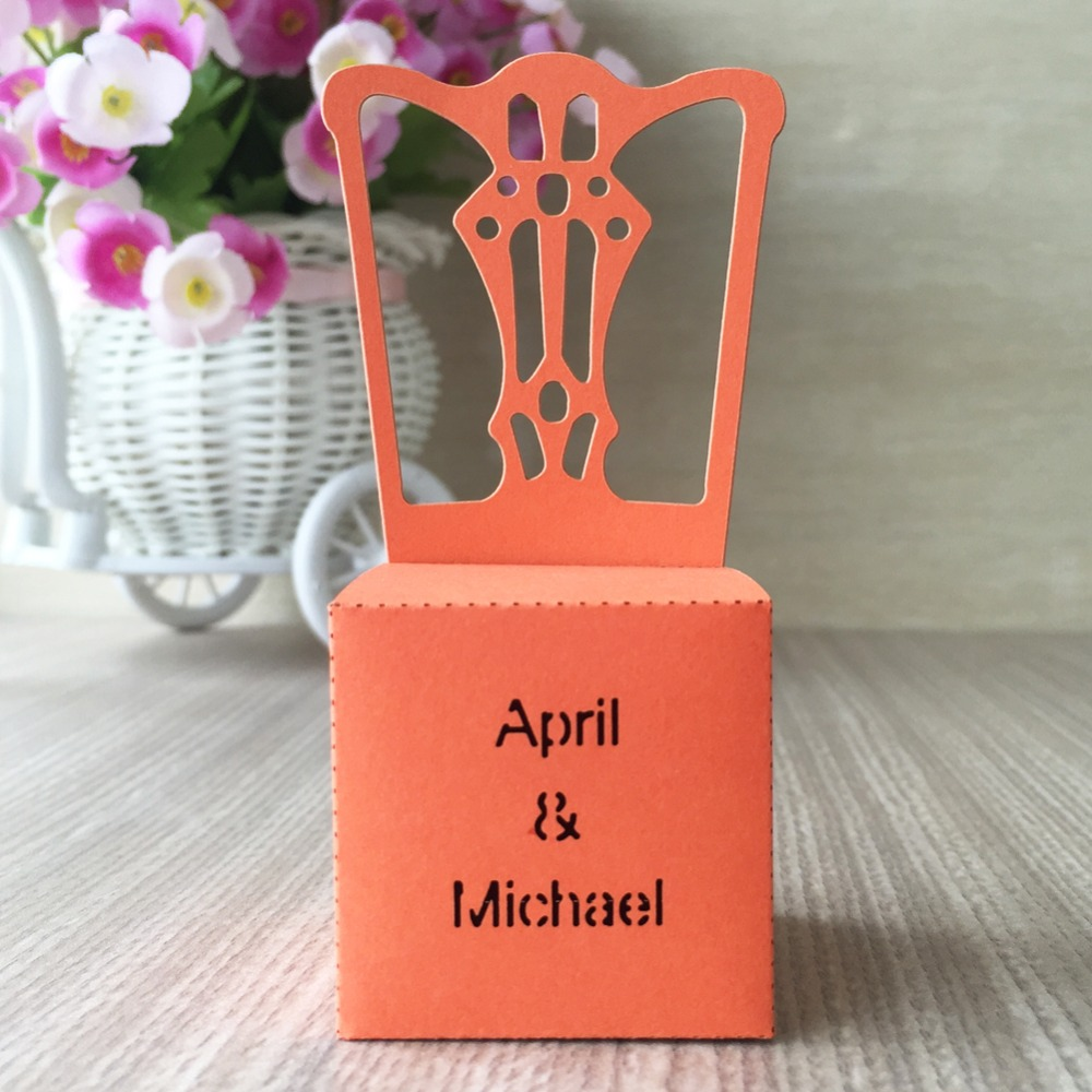 50pcs/lot free printable laser cut chair design wedding invitations ...