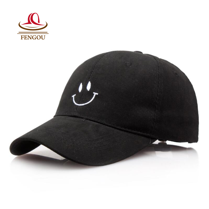 Fashion Smiling Black Snapback Baseball Cap Hats for Women Men Summer Dad Hats for Men Trucker Cap Polo Hat Casquette Gorras [wareball] fashion cap for men and women leisure gorras snapback hats baseball caps casquette grinding hat outdoors sports cap
