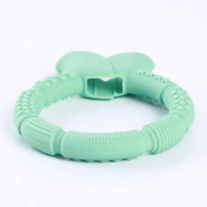 1 pc Baby Teether Food Grade Silicone Baby Teething Pacifier Pendant Soothing Baby's Gums Teething Ring