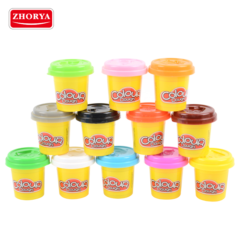 Zhorya New 12pcs Air Dry Super Light Jumpimg Modeling Clay Play Dough Playdough Foam Clay Intelligent Plasticine Polymer Clay