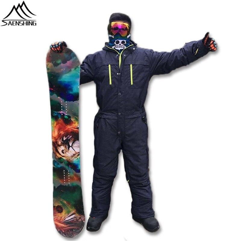 Prix pour Saenshing Ski Veste Hommes Étanche Épaississent Chaud Snowboard veste d'une seule pièce de Ski salopette Sport Neige Costume de Ski D'hiver vestes