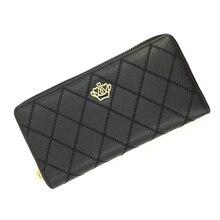 Women Wallet Female Purse Leather Clutch Bag Metal Crown Long Zipper Bifold Phone Money Fashion Card Holder