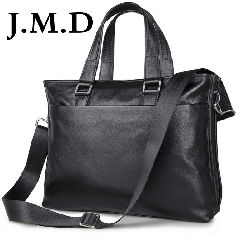J.M.D 2018 New Arrival 100% Leather Briefcases Men's Cow Leather Messenger Shoulder Bag Handbags Travel Bags 7328