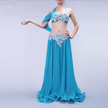 Bellydance oriental Belly Indian gypsy eastern dance dancing costume costumes clothes bra belt robe ring skirt dress set 166