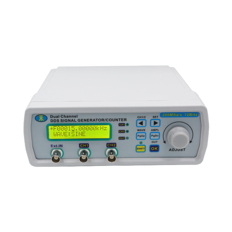 DDS NC dual channel arbitrary waveform signal generator TTL output 25MHz frequency meter signal source MHS-5200A 50% off free shipping mhs 3200a 12mhz dds nc dual channel function signal generator dds signal source 4 kinds of waveform output