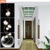 UzeQu Triple Painting Wall Clock 5D DIY Diamond Painting Cross Stitch Floral Vase Diamond Rhinestone Watch