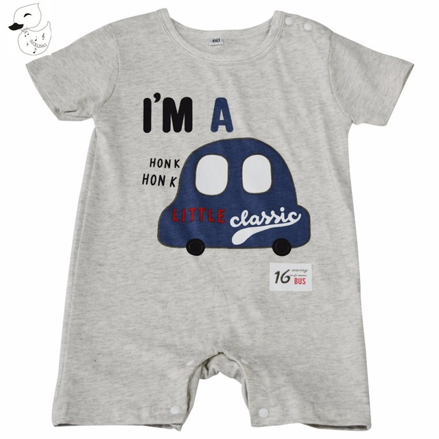 9222c2639 BINIDUCKLING Baby Rompers Summer Baby Boy Clothing Sets Short Sleeve ...
