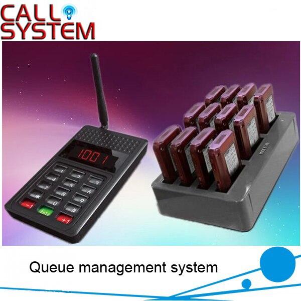 Беспроводной Вибрационный вызов пейджер система 12 coaster подкачки с 1 передатчик и зарядное устройство Слот Бесплатная доставка