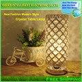 E27 LED высококачественные декоративные Кристалл настольная лампа Спальня Абажур Украшения спальня тумбочка моды свадьбы освещения