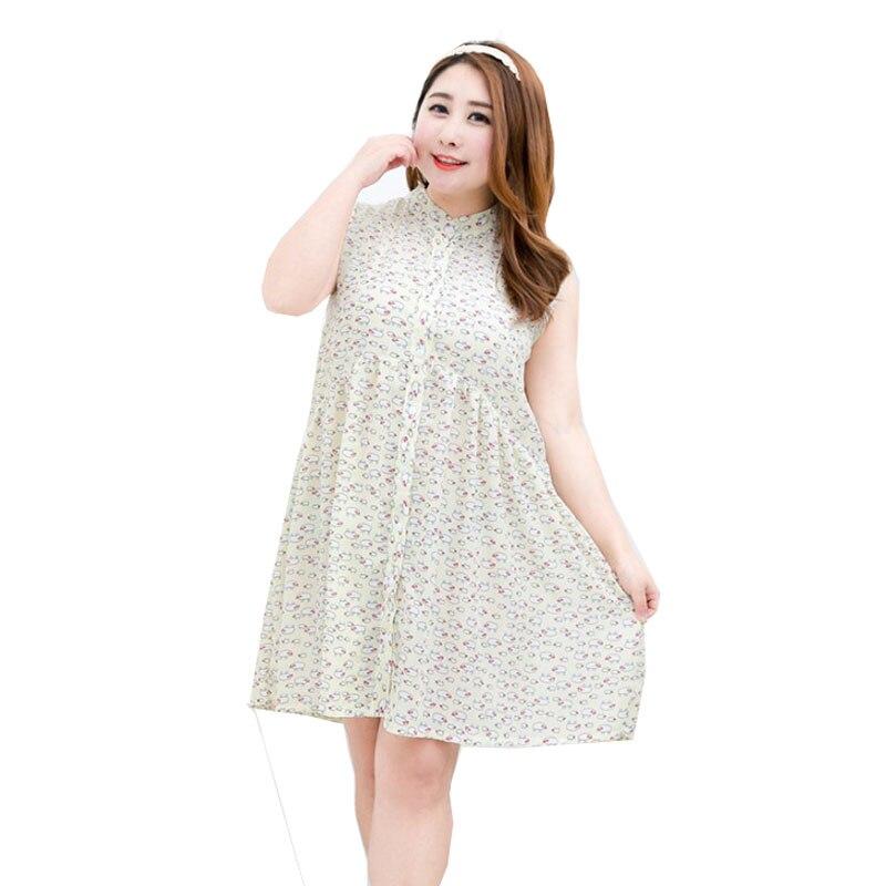 Sheep Print Chiffon Loose O Neck Long Sleeve Plus Size Women Sweet font b Dress b