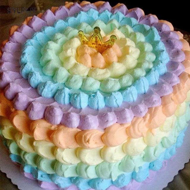 SYLPHY #806 #807 #808 #809 4 pz Rotonda Ugello per la Crema di Grandi Dimensioni In Metallo Cake Decorating tips Set di Strumenti di Cottura Pasticceria Ugelli