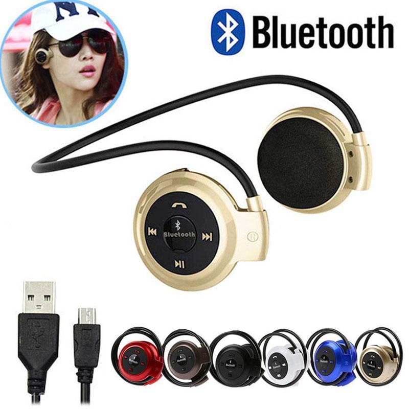 AHHROOU Mini 503 Mini503 Bluetooth 4.0 Headset Sport Wireless Music Stereo Earphones Support Micro SD Card Slot + FM Speakers