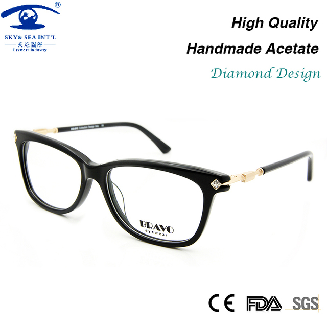9888a31483 High Quality Eye Glasses Frames for Women Diamond Glass Frame Fashion Myopia  Glasses Female Spectacle Frame