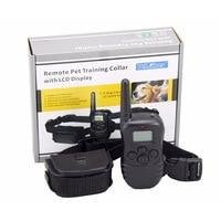 Petrainer PET988D Remote LCD 100LV 300M l Electric Shock Vibration Remote Anti Bark Pet Dog Training Collar