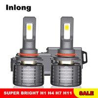 Inlong V35 H7 H1 9005 9006 автомобилей светодио дный лампа фары H1 H9 H3 H8 D1S H4 D4S D2S D3S 80 Вт 15600LM фары светодио дный лампы Противотуманные фары 6000 К