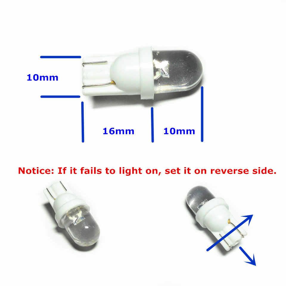 24 V led araba ampulü Lambası 10 adet T10 (10mm Spot Lamba) w5W W2.1X9.5d Sinyal Kapı Lİsans Kurulu Üst Okuma park lambası