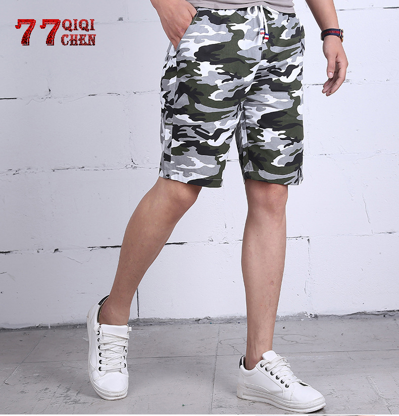 Camouflage Shorts Men 2019 Fashion Military Short Pants Male Cotton Casual Shorts Men Beach Shorts Bermuda Masculina Plus Size