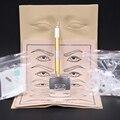 Высокое качество Microblading Pen наборы руководство ручка брови паста комплекты с 10 шт. иглы лезвие 2 шт. практика кожи для учащегося использования