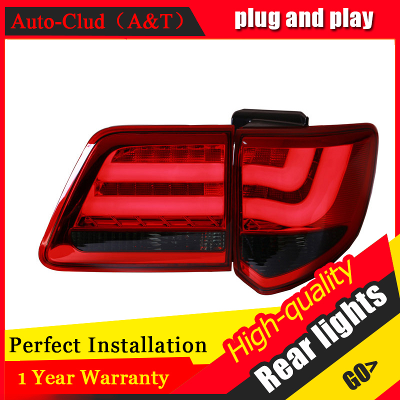 Auto Clud Car Styling for Toyota FORTUNER Taillights 2012 New FORTUNER LED Tail Lamp Altis Rear Lamp DRL+Brake+Park+Signal led. 2pcs set new car rear fog light lamp brake light car styling specific for toyota fortuner 2015 2016 12v dc