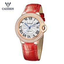 CADISEN Brand Luxury High Quality Quartz Leather Wrist Bracelet Fashion Women font b Watch b font