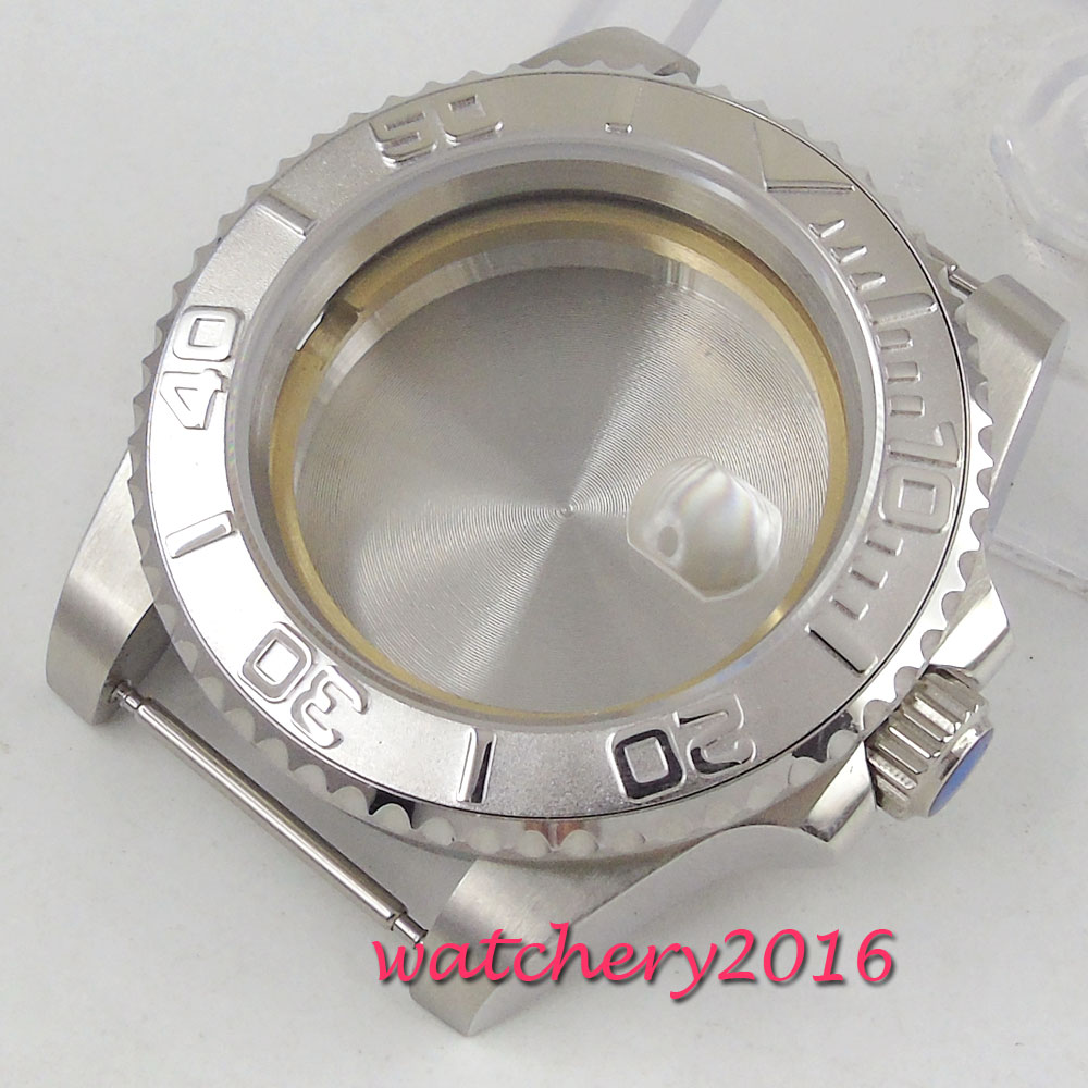 PARNIS 40mm Sapphire Glass Date Rotating Bezel High Quality Steel Watch Case fit 2824 2836 Movement new ukulele case 23 water proof glass fiber case high quality dropshipping wholesale yellow