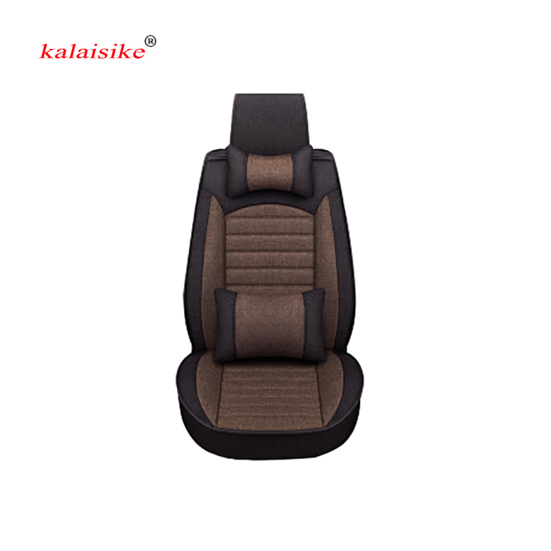 Kalaisike Flax Universal Car Seat covers for Nissan all models qashqai x trail tiida Note Murano